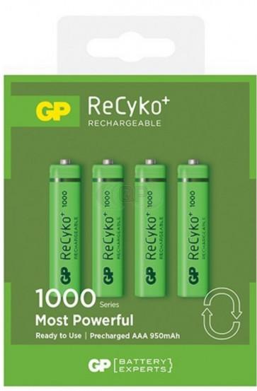 Oplaadbare batterij AAA 950 mAh NiMH GP Recyko+ 4 stuks