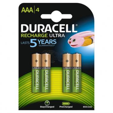 Oplaadbare batterij AAA 900 mAh NiMH Duracell 4 stuks