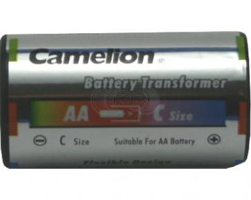 Batterij adapter AA naar C-Baby Camelion 2 stuks