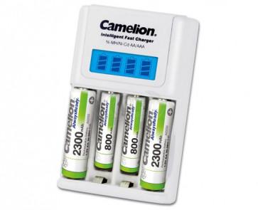 Camelion BC-1012 batterij oplader 4 kanaals + 4 batterijen