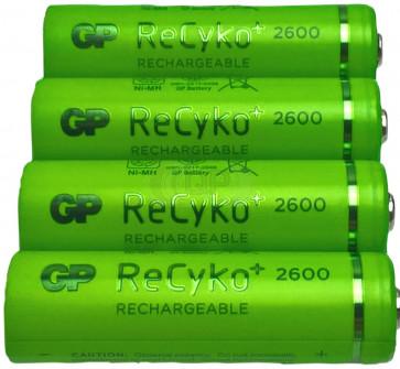 Oplaadbare batterij AA 2600 mAh NiMH GP Recyko+ 4 stuks