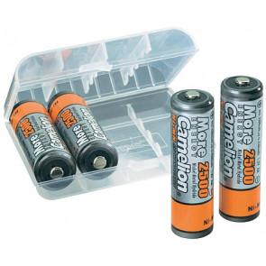 Oplaadbare batterij AA 2500 mAh NiMH Camelion + opberg systeem 4 stuks