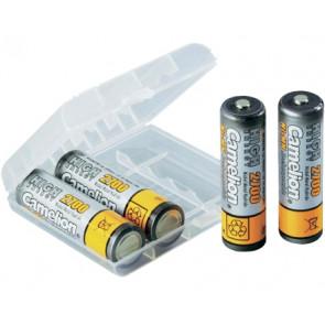 Oplaadbare batterij AA 2700 mAh NiMH Camelion + opberg systeem 4 stuks