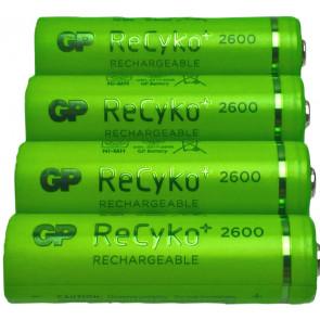 Oplaadbare batterij AA 2600 mAh NiMH GP (Recyko+) 4 stuks