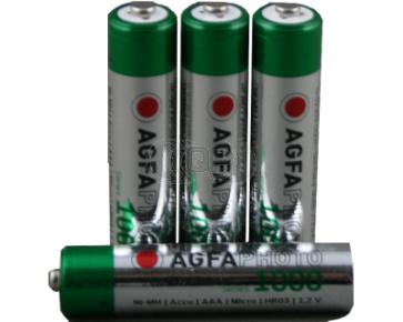 Oplaadbare batterij AAA 900 mAh NiMH Agfa 4 stuks