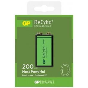 Oplaadbare batterij 9 Volt 200 mAh NiMH GP Recyko+ ready to use