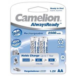 Oplaadbare batterij AA 2500 mAh NiMH Camelion always ready 2 stuks