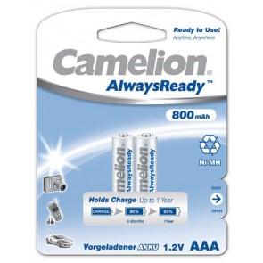 Oplaadbare batterij AAA 800 mAh NiMH Camelion always ready 2 stuks