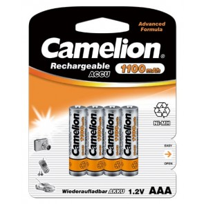Oplaadbare batterij AAA 1100 mAh NiMH Camelion 4 stuks