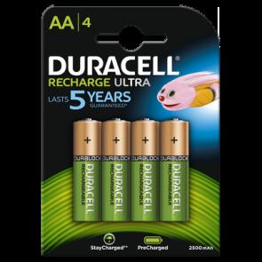 Oplaadbare batterij AA 2500 mAh NiMH Duracell always ready 4 stuks