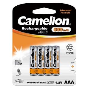 Oplaadbare batterij AAA 600 mAh Camelion 4 stuks