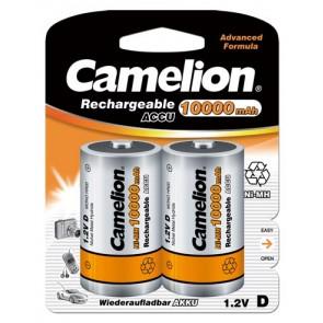 Oplaadbare batterij Mono D 10.000 mAh Camelion 2 stuks