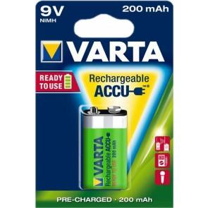 Oplaadbare batterij 9 Volt 200 mAh NiMH Varta ready to use